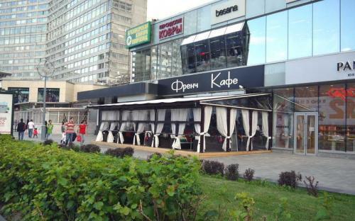 Летнее кафе-веранда. Френч Кафе. Москва, Новый Арбат