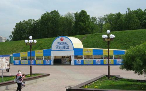 Летний бар. Г.Дмитров Площадь 180кв.м., сталь, ПВХ-ткань
