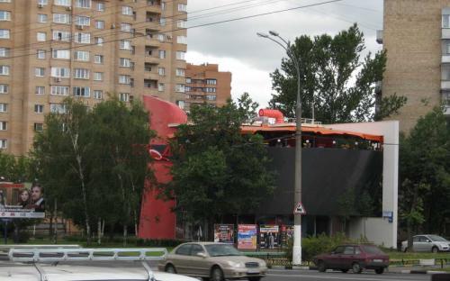 Крышная конструкция. Ресторан Сковородка Площадь 300 кв.м.