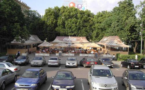 Летние кафе. Долгоруковская площадь Площадь композиции - 400 кв.м.
