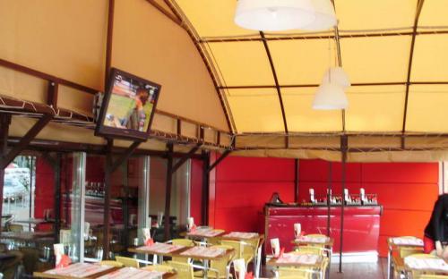 """Летний бар """"Азия-кафе"""", Мытищи Алюминиевый каркас, яхтенная ткань"""