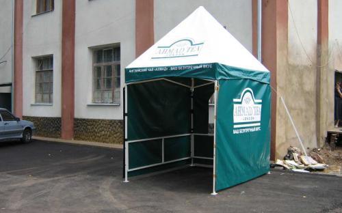 Торговая палатка. Стальной каркас, ПВХ ткань, реклама