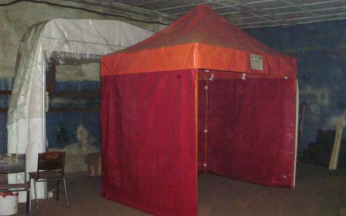 Торговая палатка. Стальной каркас, ПВХ ткань